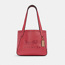 COACH C4062 - HORSE AND CARRIAGE TOTE 27 WITH HORSE AND CARRIAGE IM/POPPY/VINTAGE MAUVE