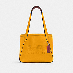 COACH C4062 - HORSE AND CARRIAGE TOTE 27 WITH HORSE AND CARRIAGE IM/OCHRE/VINTAGE MAUVE