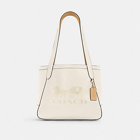 COACH C4062 HORSE AND CARRIAGE TOTE 27 WITH HORSE AND CARRIAGE IM/CHALK/VANILLA CREAM