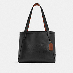 HORSE AND CARRIAGE TOTE WITH HORSE AND CARRIAGE - C4063 - IM/BLACK/REDWOOD