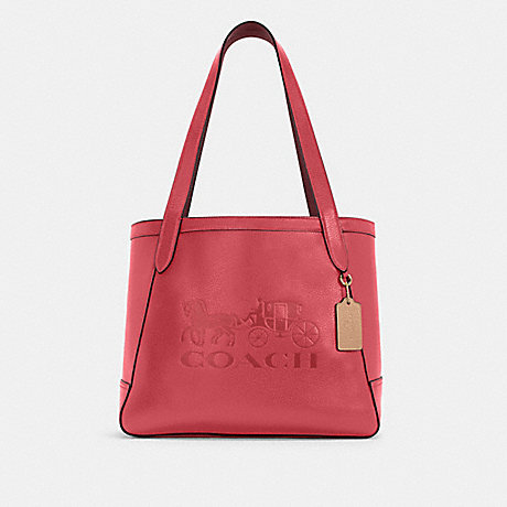 COACH C4063 HORSE AND CARRIAGE TOTE WITH HORSE AND CARRIAGE IM/POPPY/VINTAGE-MAUVE