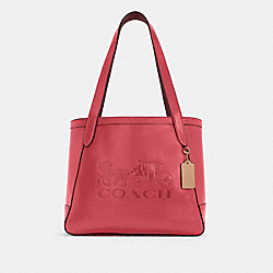 COACH C4063 - HORSE AND CARRIAGE TOTE WITH HORSE AND CARRIAGE IM/POPPY/VINTAGE MAUVE