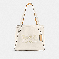 COACH C4063 - HORSE AND CARRIAGE TOTE WITH HORSE AND CARRIAGE IM/CHALK/VANILLA CREAM