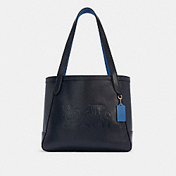 COACH C4063 - HORSE AND CARRIAGE TOTE WITH HORSE AND CARRIAGE IM/MIDNIGHT/SKY BLUE