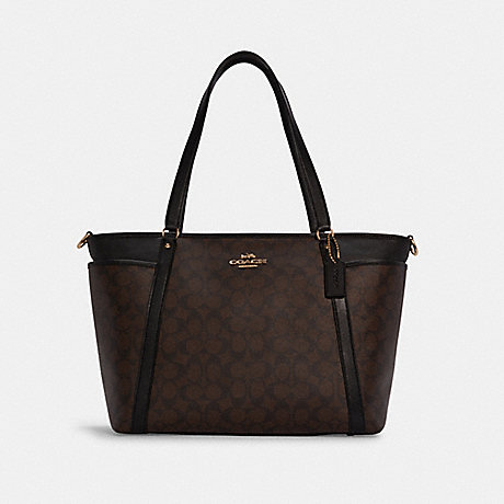 COACH C4071 BABY BAG IN SIGNATURE CANVAS IM/BROWN BLACK