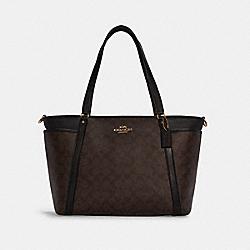 COACH C4071 - BABY BAG IN SIGNATURE CANVAS IM/BROWN BLACK