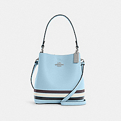 SMALL TOWN BUCKET BAG IN COLORBLOCK WITH STRIPE - C4080 - SV/WATERFALL MIDNIGHT MULTI