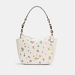 RORI SHOULDER BAG WITH WILD MEADOW PRINT - C4091 - IM/CHALK MULTI