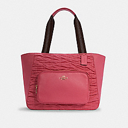 COURT TOTE WITH RUCHING - C4093 - IM/CONFETTI PINK