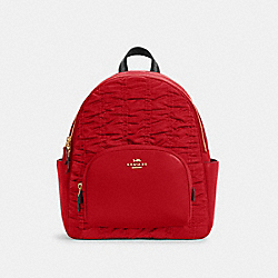 COURT BACKPACK WITH RUCHING - C4094 - IM/1941 RED
