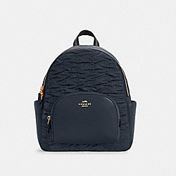 COURT BACKPACK WITH RUCHING - C4094 - IM/MIDNIGHT
