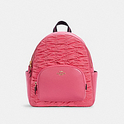 COURT BACKPACK WITH RUCHING - C4094 - IM/CONFETTI PINK