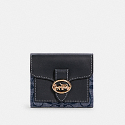 COACH C4103 - GEORGIE SMALL WALLET IN SIGNATURE CHAMBRAY IM/DENIM MULTI