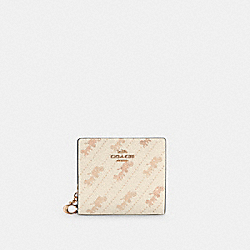 COACH C4104 - SNAP WALLET WITH HORSE AND CARRIAGE DOT PRINT IM/CREAM