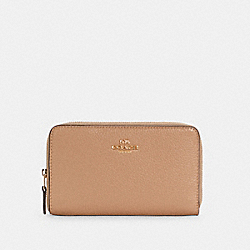 COACH C4124 - MEDIUM ID ZIP WALLET IM/TAUPE