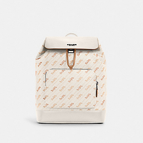 COACH C4135 TURNER BACKPACK WITH HORSE AND CARRIAGE DOT PRINT QB/CHALK