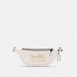COACH C4137 - WARREN BELT BAG WITH HORSE AND CARRIAGE QB/CHALK