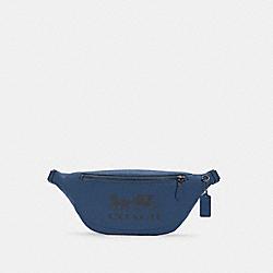 COACH C4137 - WARREN BELT BAG WITH HORSE AND CARRIAGE QB/JEWEL BLUE