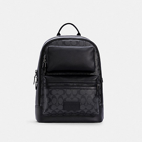 COACH C4145 RIDER BACKPACK IN SIGNATURE CANVAS QB/CHARCOAL-BLACK
