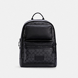 COACH C4145 - RIDER BACKPACK IN SIGNATURE CANVAS QB/CHARCOAL BLACK