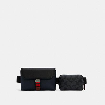 ライダー ダブル ベルト バッグ カラーブロック シグネチャー キャンバス