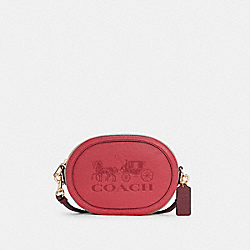 COACH C4164 - CAMERA BAG IN COLORBLOCK WITH HORSE AND CARRIAGE IM/POPPY/VINTAGE MAUVE