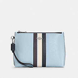 ROWAN POUCH IN COLORBLOCK WITH STRIPE - C4214 - SV/WATERFALL MIDNIGHT MULTI