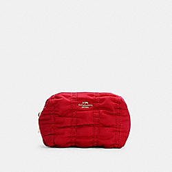SMALL BOXY COSMETIC CASE WITH RUCHING - C4224 - IM/1941 RED