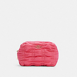 SMALL BOXY COSMETIC CASE WITH RUCHING - C4224 - IM/CONFETTI PINK