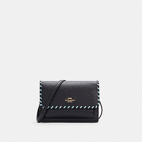 COACH C4234 FOLDOVER BELT BAG WITH WHIPSTITCH IM/MIDNIGHT/WATERFALL MULTI