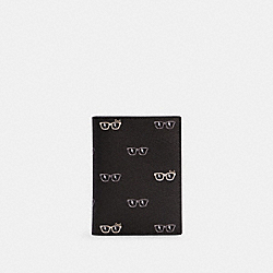 COACH C4240 - PASSPORT CASE WITH SUNGLASSES PRINT QB/BLACK MULTI