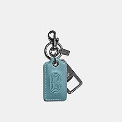 COACH C4244 - BOTTLE OPENER KEY FOB WITH COACH PATCH QB/MARINE