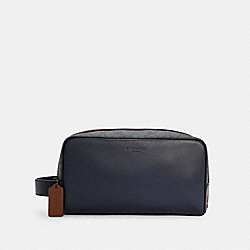 LARGE TRAVEL KIT IN COLORBLOCK SIGNATURE CANVAS - QB/MIDNIGHT CHARCOAL MULTI - COACH C4246