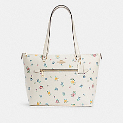 GALLERY TOTE WITH WILD MEADOW PRINT - C4251 - IM/CHALK MULTI