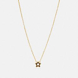 COACH C4263 - WILDFLOWER PENDANT NECKLACE GOLD