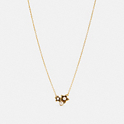 COACH C4264 - WILDFLOWER CLUSTER PENDANT NECKLACE GOLD