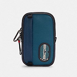 COACH C4268 North/south Hybrid Pouch In Colorblock With Striped Coach Patch QB/MARINE MULTI