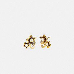 COACH C4271 Wildflower Cluster Stud Earrings GOLD