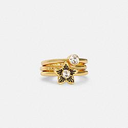COACH C4274 Wildflower Ring Set GOLD