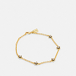 COACH C4279 - WILDFLOWER CHAIN BRACELET GOLD