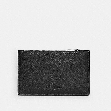 COACH C4280 ZIP CARD CASE QB/BLACK