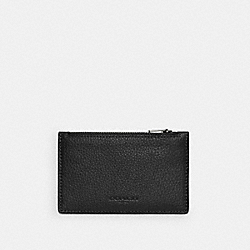 COACH C4280 - ZIP CARD CASE QB/BLACK