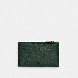 COACH C4280 - ZIP CARD CASE QB/DARK CLOVER