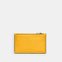 COACH C4280 - ZIP CARD CASE QB/OCHRE