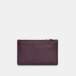ZIP CARD CASE - C4280 - QB/DARK GRAPE