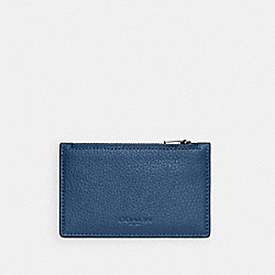COACH C4280 - ZIP CARD CASE QB/JEWEL BLUE