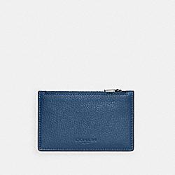 COACH C4280 Zip Card Case QB/JEWEL BLUE