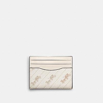 スリム ID カード ケース ウィズ ホース アンド キャリッジ ドット プリント