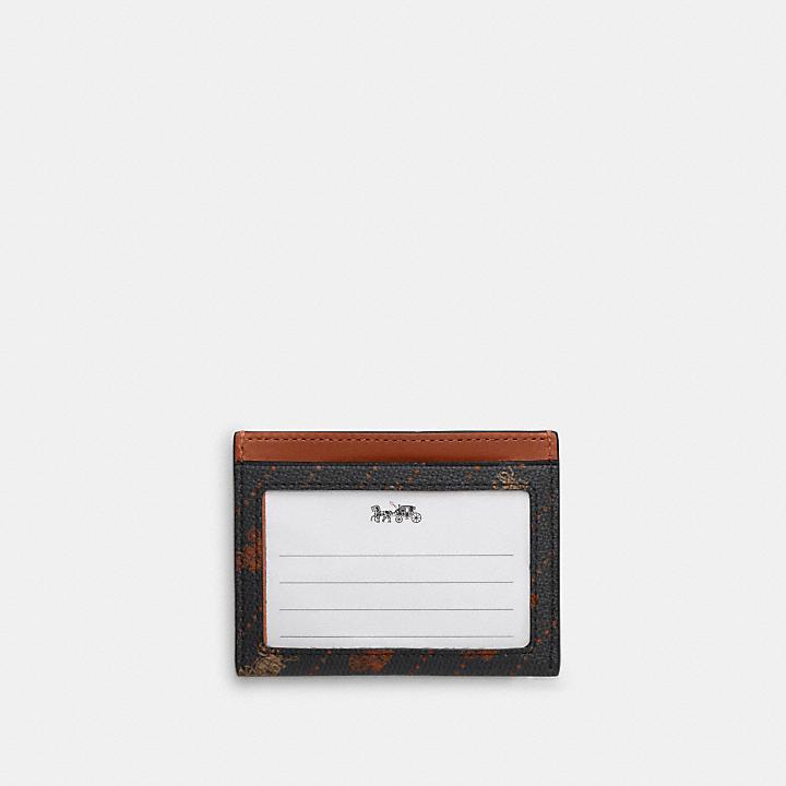 コーチ公式アウトレット | スリム ID カード ケース ウィズ ホース アンド キャリッジ ドット プリント | カードケース/パスケース