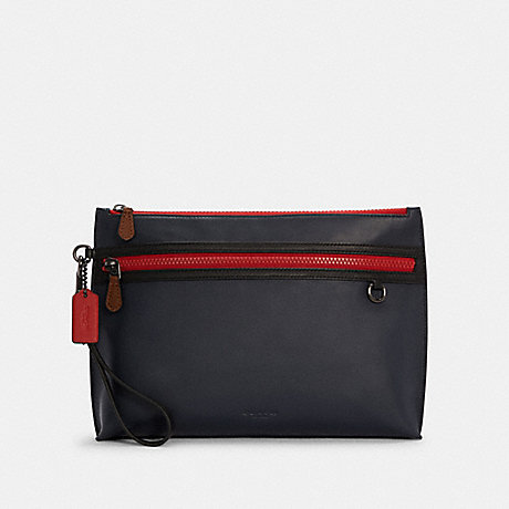 COACH C4288 CARRYALL POUCH IN COLORBLOCK QB/MIDNIGHT MULTI